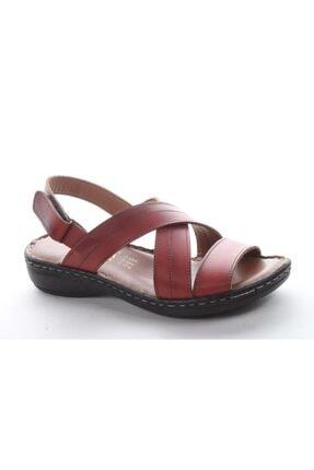 Pandora Kadın Kırmızı Günlük Deri Sandalet Tu07