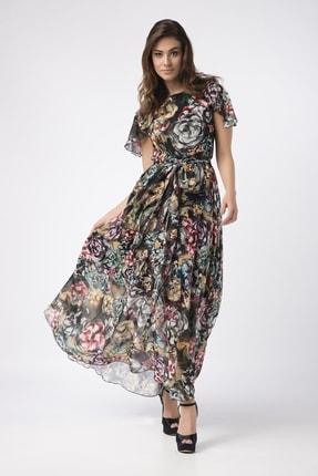 Laranor Kadın Desenli Şifon Elbise