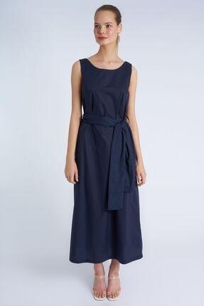 Home Store Kadın Lacivert Askılı Elbise