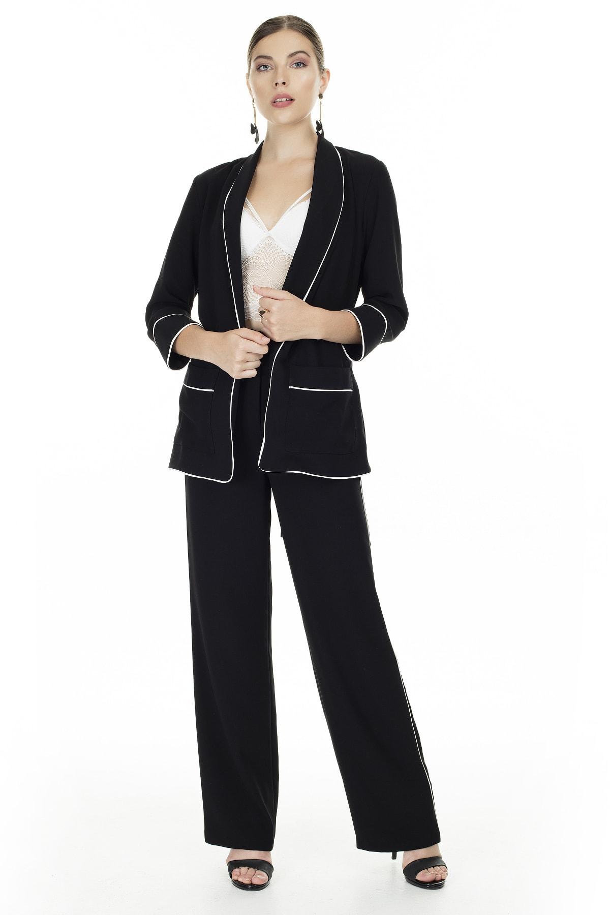 Ayhan Siyah Yüksek Bel Pantolon Kadın Pantolon 0467990