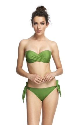 Reflections Kadın Yeşil Mix Match Yandan Bağlamalı Düz Bikini Alt