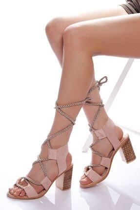 derithy -klasik Topuklu Ayakkabı-pudra Süet