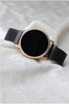 Spectrum Siyah-altın Mıknatıslı Dokunmatik Unisex Kol Saati