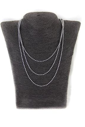Accessories Gümüş Kaplama Bayan Zincir Kolye