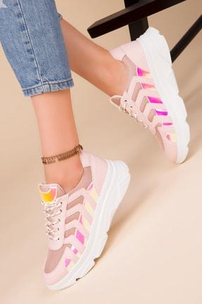 SOHO Kadın Pudra-Neon Sneaker 15220