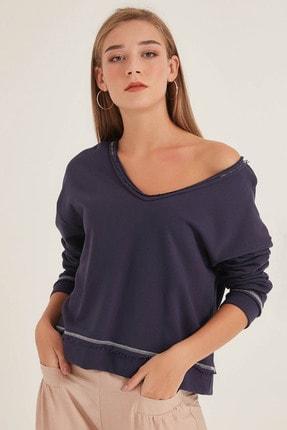 Home Store Kadın Açık Lacivert Sweatshirt 20250220023