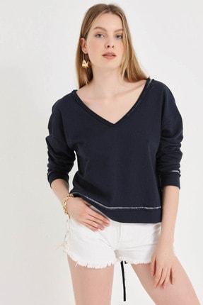 Home Store Kadın Lacıvert Sweatshirt 20250220023