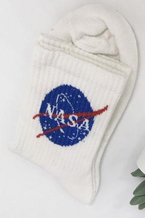 YOYOSO Kadın Beyaz  Nasa Soket Çorap