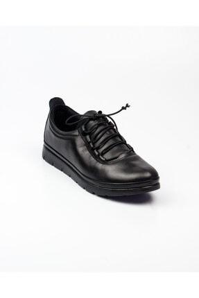 Bulldozer 210671 Kadın Deri Günlük Ayakkabı Siyah Siyah-38