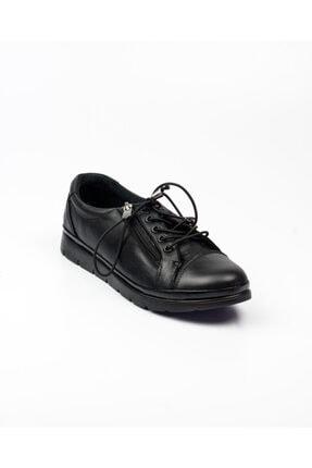 Bulldozer 210673 Kadın Deri Günlük Ayakkabı Siyah Siyah-39