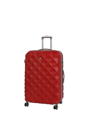 ITLUGGAGE Unisex Kırmızı Kabin Boy Abs Valiz 02126