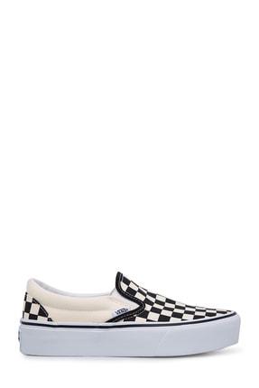 Vans Kadın Spor Ayakkabı - Classic Slip-On Checkerboard Platform VN18EBWW