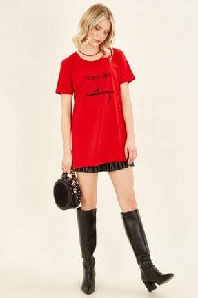 Arma Life To Do List Baskılı T-shirt - Kırmızı