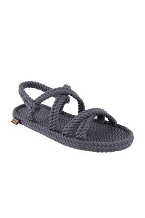 NOMADIC REPUBLIC Tahiti Kadın Halat & Ip Sandalet - Gri
