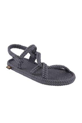 NOMADIC REPUBLIC Mykonos Kadın Halat & Ip Sandalet - Gri