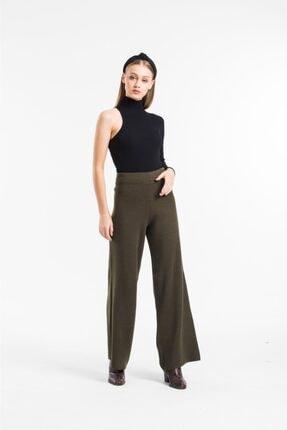 Genç Kadın Yüksek Bel Triko Pantalon Örme Rahat Pantalon triko5