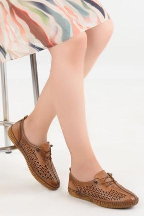 Ayakland Kadın Taba Deri Full Comfort Ortopedik Ayakkabı Frd 5040