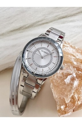 Homies Marka Bayan Kol Saati Çelik Bileklik Hediyeli Hms-30213