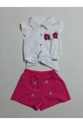 Kız Bebek Beyaz Pembe Takim 19-575