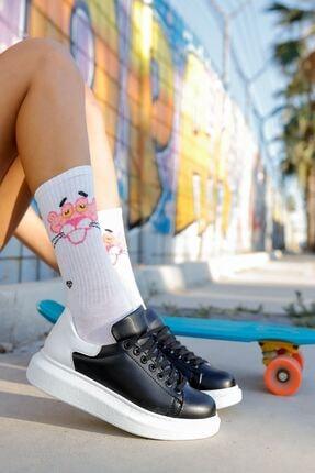 Chekich Kadın Siyah / Beyaz  Ayakkabı Ch256 Bt
