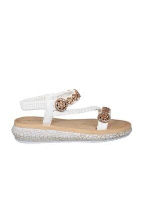 Guja 19y209-3 Ortopedik Beyaz Kadın Sandalet