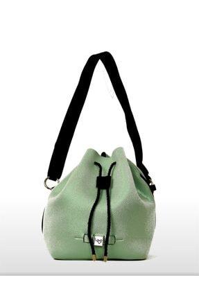 Kadın Mint Yeşili Simli Çanta Sy4382 18Y.1.008.15.00273