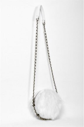 Dsn Kadın Beyaz Zincir Detaylı  Çanta