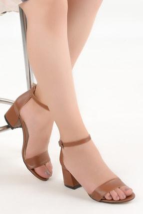 Ayakland Kadın Kahverengi Topuklu Ayakkabı