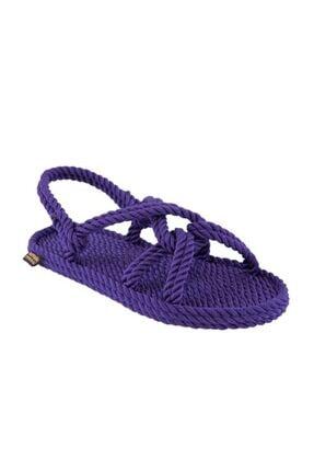 NOMADIC REPUBLIC Kadın Mor Bora Bora Kadın Halat Ip Sandalet