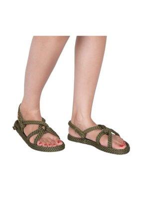 NOMADIC REPUBLIC Kadın Haki Halat Sandalet