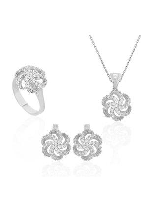 GUMUSH Gümüş Çiçek Desenli Bayan Set
