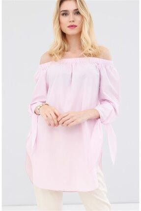 Boutiquen Kadın Pembe Kolları Bağcıklı Bluz