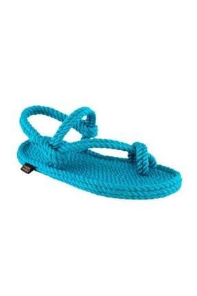 NOMADIC REPUBLIC Kadın Turkuaz Hawaii Halat & Ip Sandalet