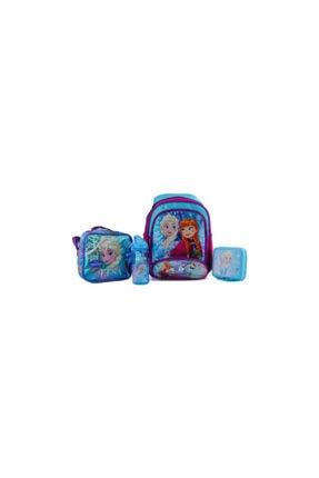 Hakan Çanta Açık Mavi Frozen 4'lü Okul Seti