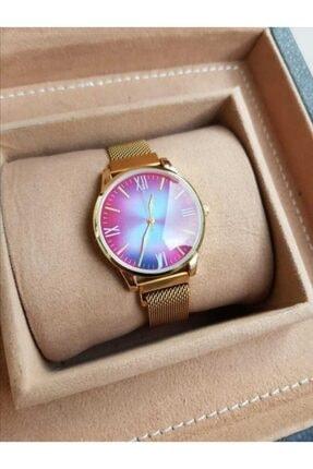 Spectrum Gold Renk Mıknatıslı Kordon Gold Kasa Kadın Saati