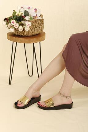 Oksit Giyim Wiva Croco Kalın Taban Kadın Terlik