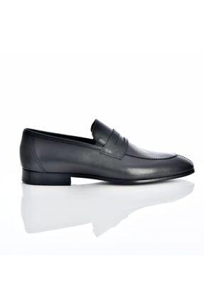 Erkek  Siyah Hakiki Deri Kösele Taban Ayakkabı KS697201