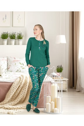 Jiber Kadın Yeşil   Pijama