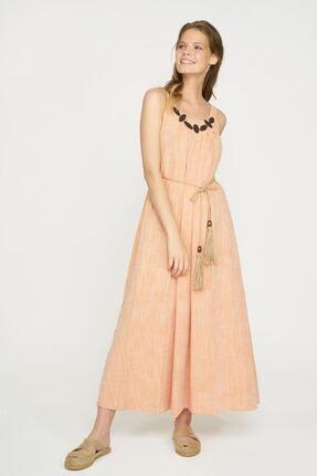 Batik Kadın Somon İp Askılı Elbise