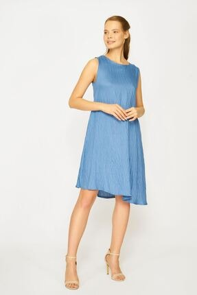 Batik Kadın Mavi Y42738 Dkm Duz Casual Elbıse