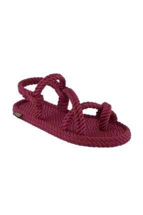 NOMADIC REPUBLIC Kadın Bordo Halat Sandalet