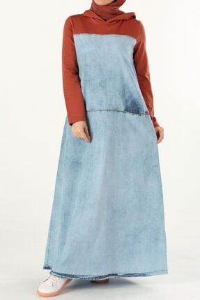 ALLDAY Kadın Mavi Pamuklu Denim Elbise