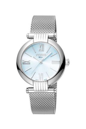 Ferre Milano Kadın Mavi Gümüş Renk Hasır Kordon Kol Saati FM1L101M0051