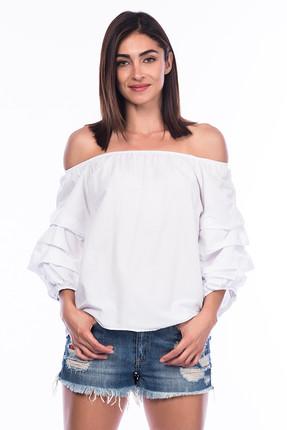 Pitti Kadın Beyaz Vual Bluz 10170