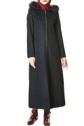 Nihan Kadın Manto Siyah A1195-09