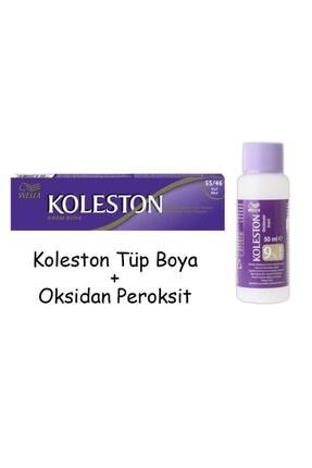 Koleston Tüp Boya 60 Ml - 55.46 Kızıl Büyü + 30 Vol Oksidan Peroksit
