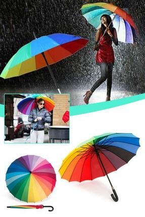Keyfi Sepet Rengarenk Gökkuşağı Şemsiye