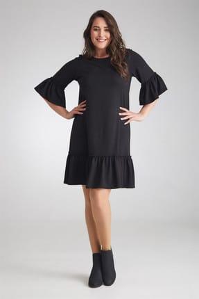 Seamoda Kadın Elbise Eteği Ve Kolu Fırfırlı-Bb PRA-236541-235455