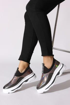 Rovigo Siyah Platin Kadın Sneaker 504C-1001-S-02