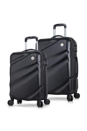 My Valice Unisex Elegance Abs 2'li Valiz Seti (Kabin ve Orta)  Siyah MV5596